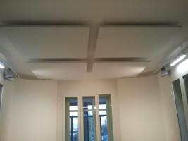 4ª Fase corrección acústica (acabado) Bafles de absorción acústica